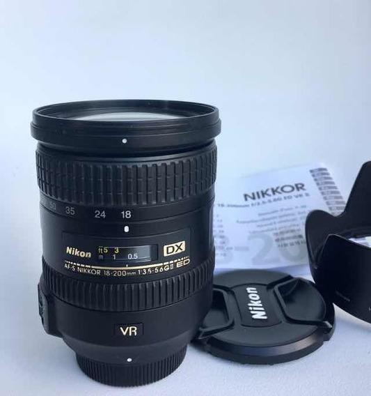 Lente Nikkor Af-s 18-200mm 3.5-5.6 Gii Ed Dx Usada