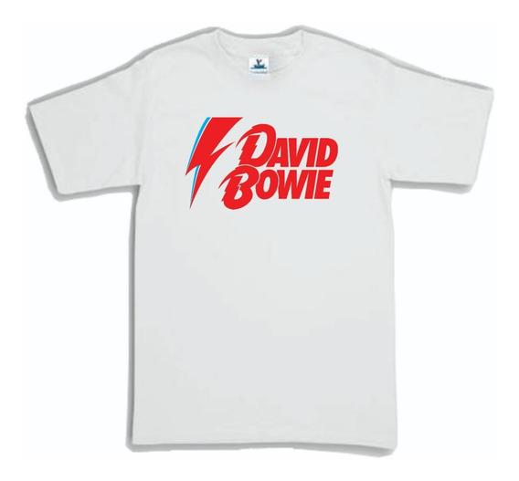 Playera David Bowie Logo Rayo 1 Hombre Mujer