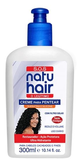 Creme P/pentear Sos Natu Hair 300ml Natuhair