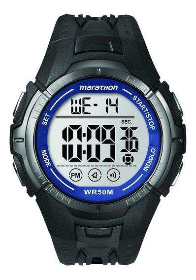 Reloj Marathon By Timex T5k359 Deportivo Indiglo 50 Mts Negro Original Nuevo