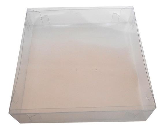 5 Cajitas Cajas Acetato Transparente Plastico 15x15x3.5 Alto