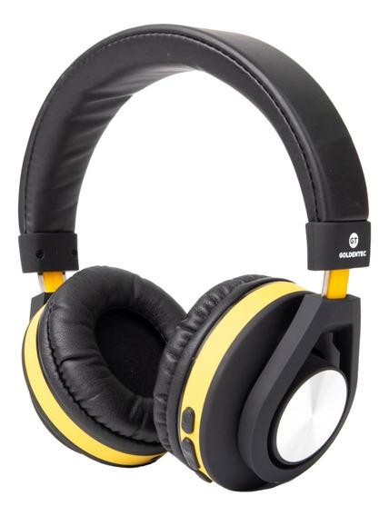 Headphone Bluetooth Gt Follow Goldentec Amarelo C/ Microfone