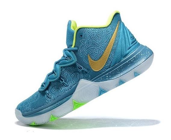 Tênis Nike Kyrie 5 Tea Blue - Azul/dourado