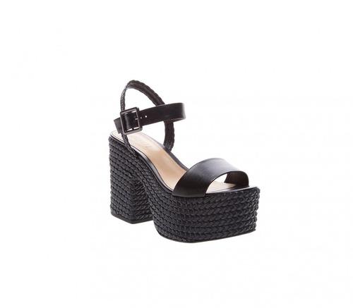 bc853c523 Sandalia Plataforma Preta Arezzo Schutz - Sapatos para Feminino com ...