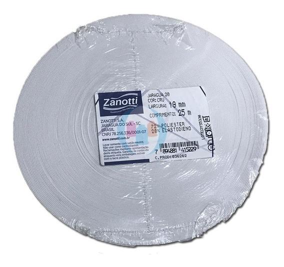 Elastico Embutir 20mm Blanco Zanotti Jaragua 20 X 25mtsts.
