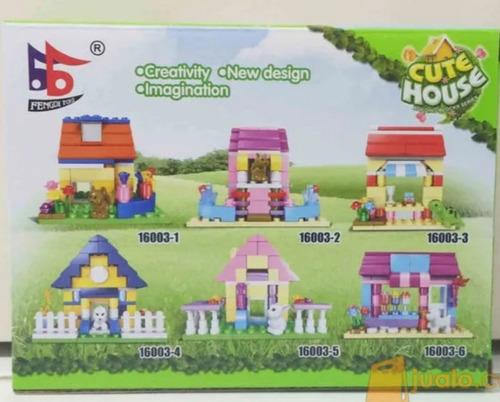 6 Cajas De Bloques Contruir Casas!! Cute House X6. Cuidad