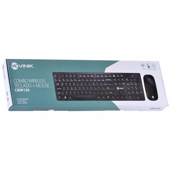 Combo Sem Fio Teclado + Mouse Cmw 120 -teclado Abnt2 E Mouse