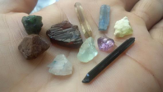 5.8gr Kit Coleção Pedras Granada Esmeralda Ametista E Mais