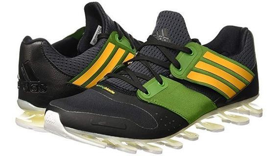 Tenis adidas Hombre Negro Verde Springblade Solyce Aq5241