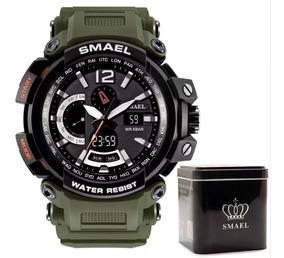 Relógio Militar - Shock Smael Original Camuflado Com Caixa