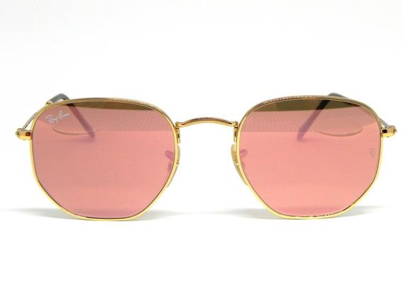 Oculos De Sol Ray Ban Hexagonal Rb 3548n 001/z2 54