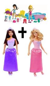 Kit Polly Diversão Na Piscina + Barbie Fashion Promoção Girl