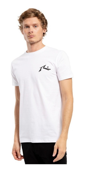Remera Rusty One Hit Competition Blanca - Hombre