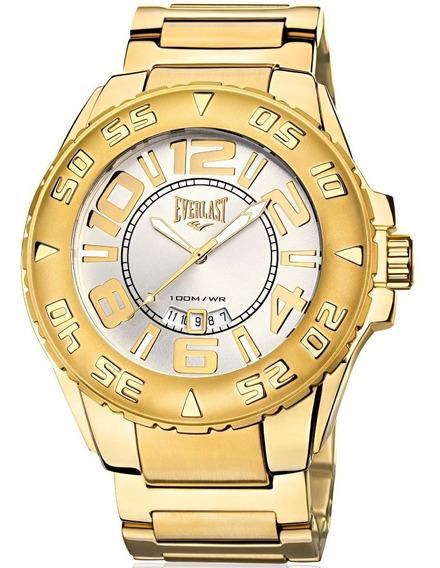 Relógio Everlast Masculino Dourado Analógico - E628