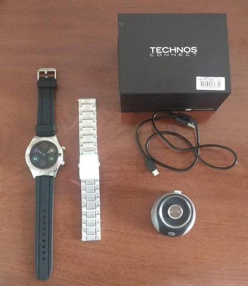 Relógio Technos Connect Duo Prata P01aa/1p (usado)