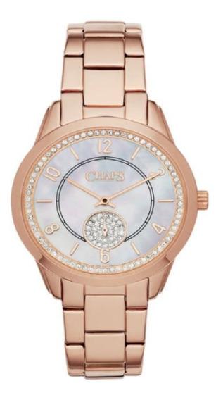 Reloj Chaps De Dama Chp3013 Oro Rosado