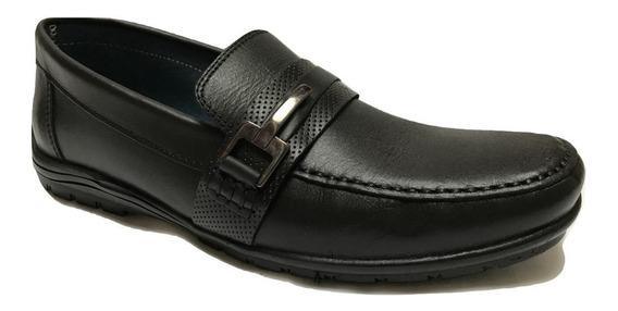 Zapato Casual Choclo Hombre Parrandas 0908 Piel Negro