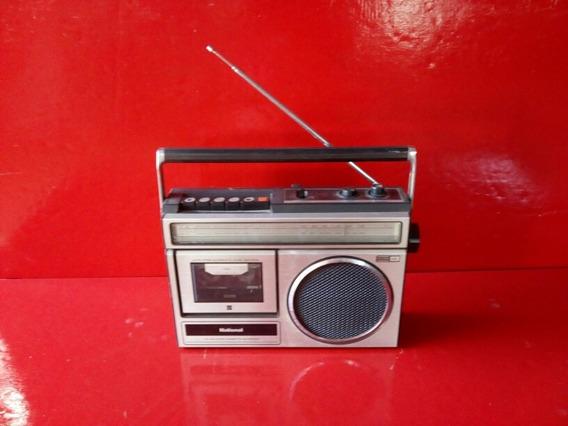 Antigo Rádio E Toca Fita National O Rádio Funciona A Fita Nã