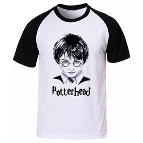 Camiseta Raglan Harry Potter Hp Potterhead Grifinória