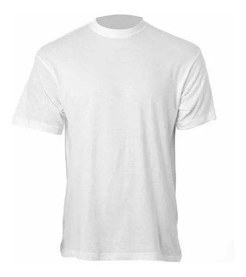 27 Camisa Lisa Branca 100% Poliéster Para Sublimação Gola
