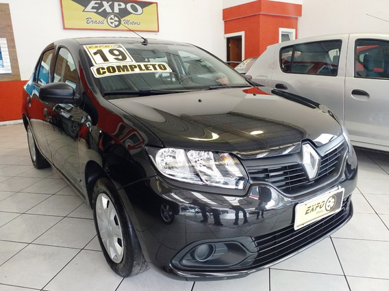 Renault Logan 1.0 Flex 2019 Completo Sem Entrada 48x 1199,