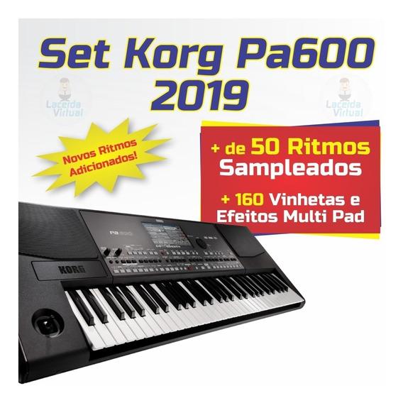 Set Korg Pa600 + Ritmos (atuais) + Vinhetas