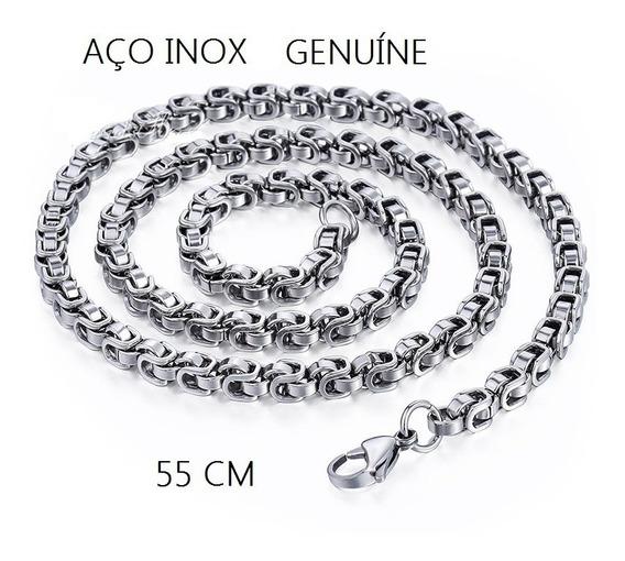 Corrente Masculina Aço Inox Genuina 55cm 47120