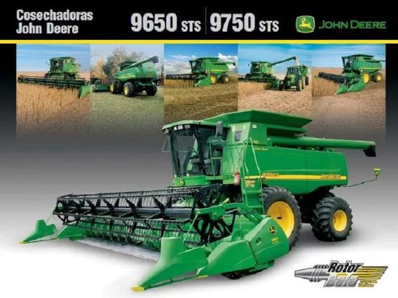 Cosechadora John Deere 9650 Sts Y 9750 Sts, Manual + Anexos