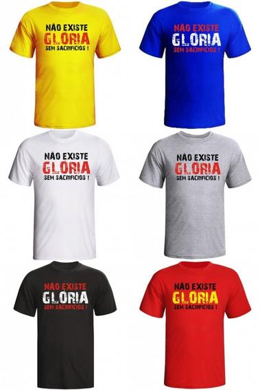 Camiseta Não Existe Gloria Sem Sacrifico Academia Masculina