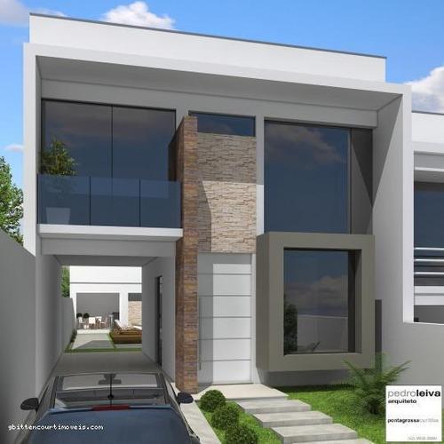 Casa Duplex Para Venda Em Ponta Grossa, Jardim América, 3 Dormitórios, 1 Suíte, 3 Banheiros, 2 Vagas - 028_2-46517