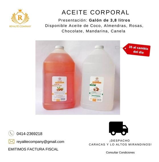 Aceite Corporal De Almendra, Coco, Rosas Y Mas Por Galon