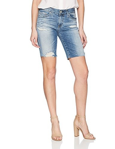 Ag Adriano Goldschmied Short Femenino Nikki Denim, 16 Anos I