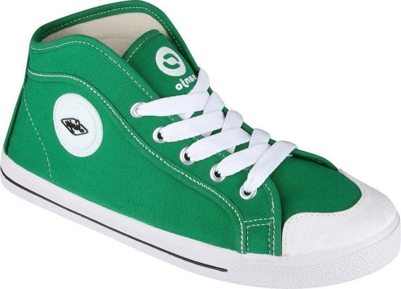 Tenis Verde Cano Alto Sola Branca Botinha Feminina Para Escola Tenis Com Cadarço Branco Escolar Verde Exclusivo New