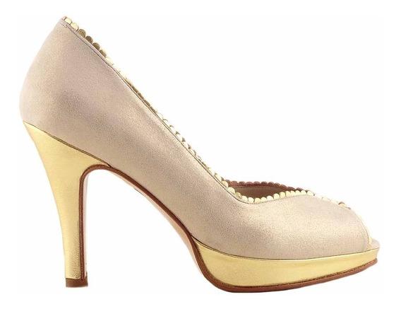 Zapato Cuero Mujer Briganti De Vestir Taco - Mccz03460