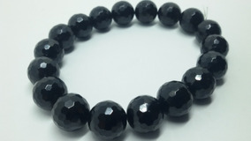 Pulseira Turmalina Negra Natural Com Esfera De 10mm