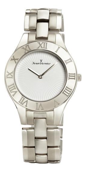 Relógio Analogo Jean Vernier Jv3669 Prata