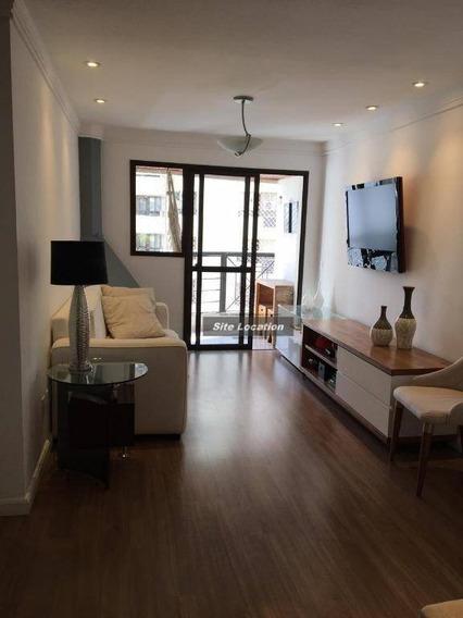 95973* Lindo Apartamento Com 78m² Sendo 2 Dormitórios - Ap3342