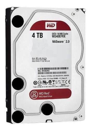 Hd Para Storage Nas Servidor De Rede 4tb Wd Red