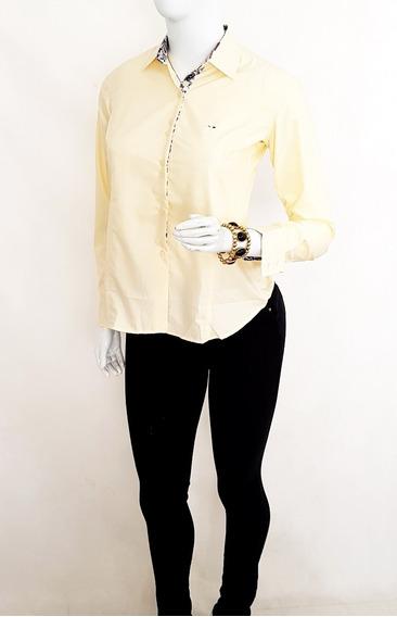 Camisa Feminina Slim Fit Em Algodão