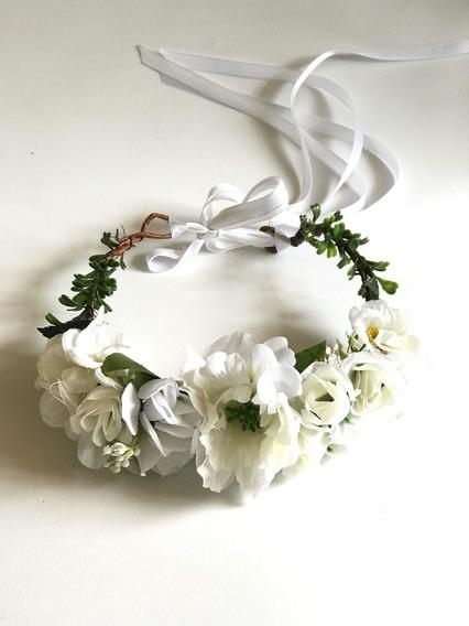 Corona Flores Blancas Niña 1 A 5 Años