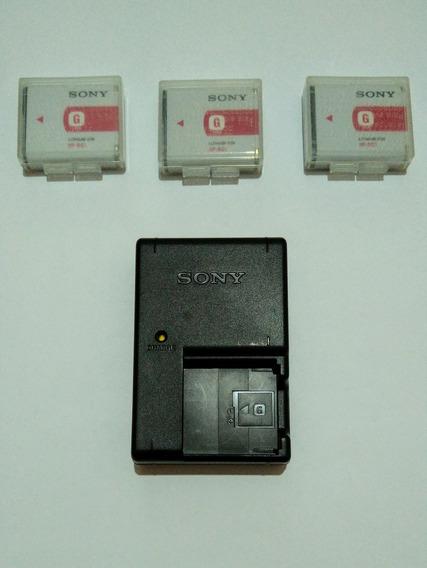 3 Baterias Sony Np-bg1 + Carregador Sony Original