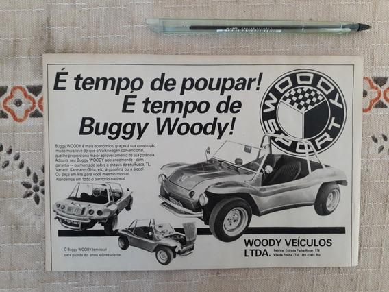 Recorte Propaganda Antiga Buggy Woody Chassi Fusca Tl Varian