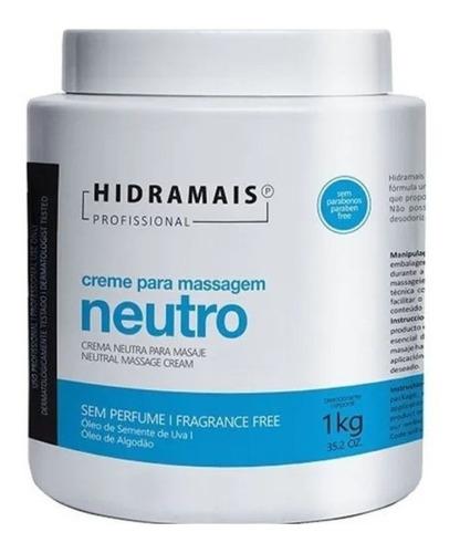 Creme De Massagem Neutro Profissional Hidramais 1kg Promoção