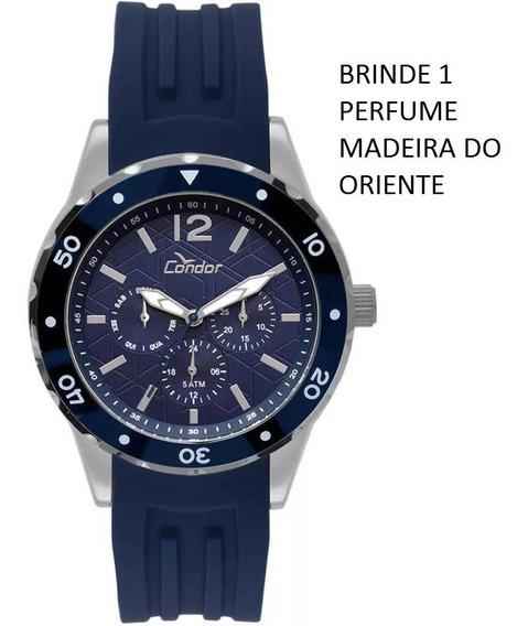 Relógio Condor Masculino Multifunção Co6p29is/3a 50 Metros , Original