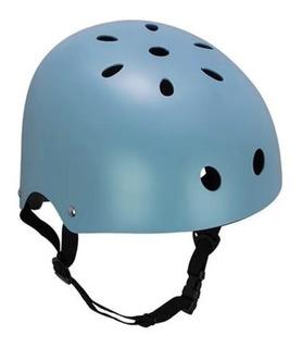Capacete Skate Bicicleta Patins Bike Coquinho Atrio Azul M