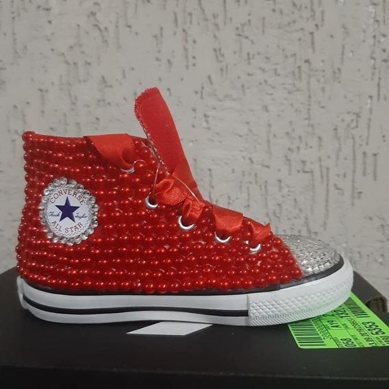 All Star Personalizado Infantil Vermelho