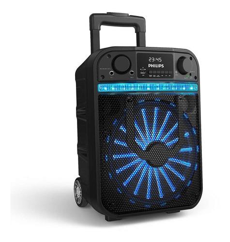 Parlante Bluetooth Philips Bass+ Tanx20 20w Karaoke Ruedas