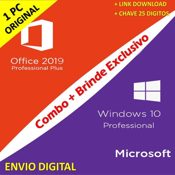 Chave Licença Windows 10 Pro +office2019 Key Envio Imediato