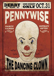 Poster Afiches Peliculas It (eso) Pennywise Arte