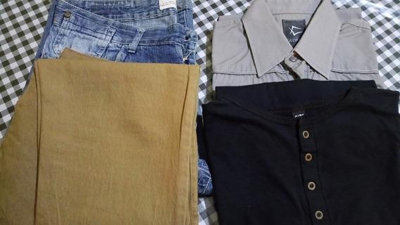 Pantalón Y Bermuda Talle 42 + Camisa Y Remera Talle M
